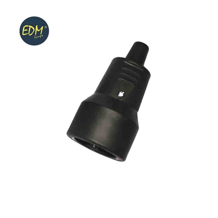 comprar BASE AEREA GOMA 10/16 A 250 V T/TL IP44 4,8 mm. NEGRA RETRAC.