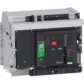 circuit breaker basic frame, Masterpact MTZ2 25H1b, 2500 A, 85 kA at 415 VAC 50/60 Hz, 4P, drawout, without Micrologic ref. LV86