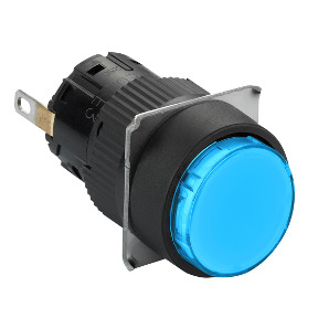 piloto luminoso circular azul Ø16 - LED integrado - 24 V - conector ref. XB6EAV6BP Schneider Electric [PLAZO 8-15 DIAS]