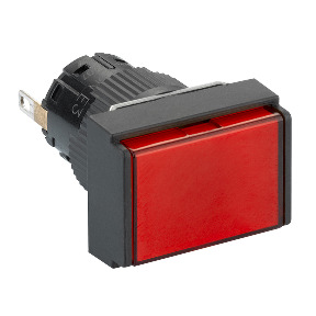 piloto luminoso rectangular rojo Ø16 - LED integrado - 24 V - conector ref. XB6EDV4BP Schneider Electric [PLAZO 8-15 DIAS]